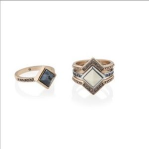 Chloe + Isabel amulet stacking rings
